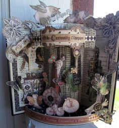 AMAZING Olde Curiosity Shoppe Altered Book by Shauna Hunt shared on our Ning gallery! #graphic45 #alteredart