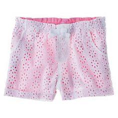 Cherokee® Infant Toddler Girls' Eyelet Chino Short