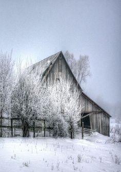 10 Country Barns in Winter Farm Barn, Old Farm, Winter Szenen, Barn Pictures, Country Barns, Country Life, Country Living, Cross Country, Country Roads