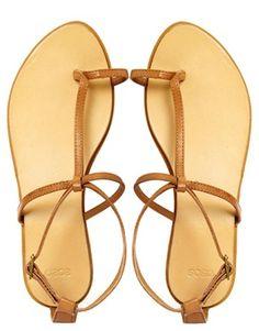 Image 3 ofASOS FOOTLOOSE Leather Flat Sandals
