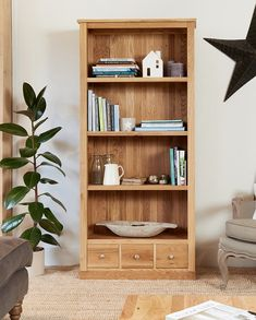 mobel oak large bookcase with drawers duck barn interiors