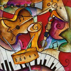 The Art Room at The Falcon Academy of Creative Arts: Grade Art - Jazz Instruments. Arte Jazz, Jazz Art, Jazz Music, Art Beauté, Inspiration Drawing, 4th Grade Art, Middle School Art, Arts Ed, Art Plastique