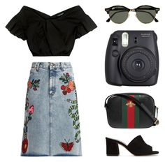 GUCCI GIRL PT. 4 by arditach on Polyvore featuring Rachel Comey, Gucci, Maryam Nassir Zadeh, Ray-Ban and Fuji