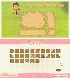 Animal Crossing 3ds, Animal Crossing Villagers, Animal Crossing Qr Codes Clothes, Animal Games, My Animal, Motif Acnl, Motifs Animal, Path Design, Island Design