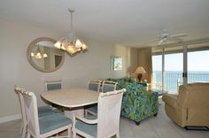 Enjoy a view of the Gulf of Mexico from the dining room table!