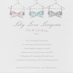 Need a Wedding Consultant to plan your Lingerie Party? Visit our website www.idownm.com and meet with your FREE Wedding Consultant. Don't need a planner, but have a question? You can also ask us for advice! Our service is completely free!