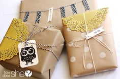 Perfect Gift Wrap & Accessories! | How Does She...Brown Paper Packages Tied Up With String