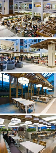 Food Court at The Promenade in Thornhill, ON - designed by GH+A (in collaboration with Queen's Quay Architects International Inc.)