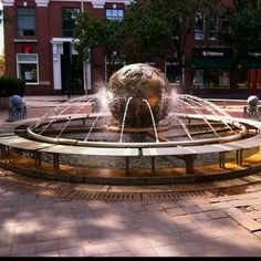 """""""Galaxy: Earth Sphere"""" (1989) - located where Main Street and Broadway meet in Kendall Square. DiscoverKendallSquare.com"""