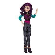 Cast a magic spell over playtime with our Descendants Mal doll! Maleficent's daughter features purple streaks in her hair, and wears a cool top with mesh detail and patterned trousers. Disney Descendants Dolls, Les Descendants, Disney Barbie Dolls, King Charles Puppy, Disney Decendants, Dogs And Kids, Disney Merchandise, Disney Frozen, American Girl