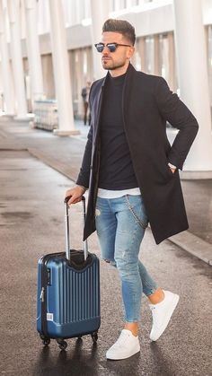 5 Ways To Layer Your Long Coat This Winter (Men) Winter inspo, su. - 5 Ways To Layer Your Long Coat This Winter (Men) Winter inspo, sunglasses, mens fashi - Casual Chic Outfits, Stylish Mens Outfits, Formal Outfits, Stylish Clothes, Mode Masculine, Suit Fashion, Fashion Outfits, Fashion Menswear, Fashion Ideas