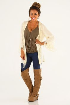 Ark & Co: Feels So Right Cardigan: Cream #shophopes