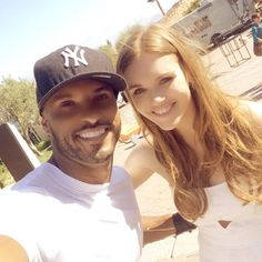 Ricky Whittle and Holland Roden || The 100 and Teen Wolf cast || Lincoln and Lydia Martin