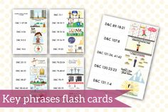 Awesome scripture mastery cards for the D&C!  Printable!