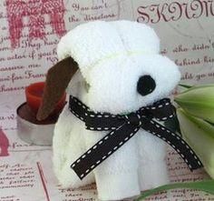 Perritos con toallas para souvenirs
