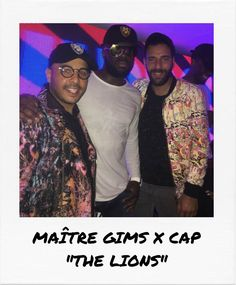 "Maître Gims VS Richard Valentine's new cap ""The Lions"" during the Cannes Film Festival Richard Valentine, Cannes 2017, Cannes Film Festival, Lions, Luxury Branding, Cap, Mens Fashion, Baseball Hat, Moda Masculina"