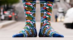 "Sneak peek at Nina Sepahpour's ""The Confetti"" #sock #design for our November Edition. Subscribe by the 21st to lock in your pair."