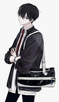 Dark Anime Guys, Cool Anime Guys, Handsome Anime Guys, Cute Anime Boy, Oc Manga, Manga Boy, Manga Anime, Otaku Anime, Anime Art
