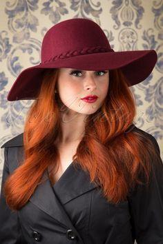 Alice - 70s Chloe Floppy Wool Hat in Burgundy