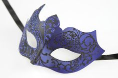 Ships within 1 business day! U.S. customers will receive their orders within 5 business days. Priority & Express shipping options are available.  Carefully designed and colored. Decorated with additional glitter for a glamorous look. Worn with silk ribbons attached to sides of the mask. Two tone coating. Product Description>>>>>>>>>>>>>>> Made with high quality eco-friendly (recyclable) poly resin. Mask measures approximately 7W x 4*H. Perfect for all masquerade events, weddings, proms…