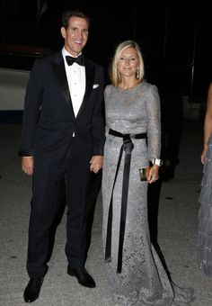 Celebrating his parents Golden Wedding Anniversary, Crown Prince Pavlos and his wife Princess Marie-Chantal.