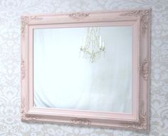 PINK NURSERY MIRROR Baby Girl Nursery Decor Baby by RevivedVintage