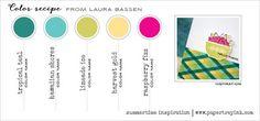 Summertime Inspiration May 2015 (Laura Bassen) - Tropical Teal, Hawaiian Shores, Limeade Ice, Harvest Gold, Raspberry Fizz