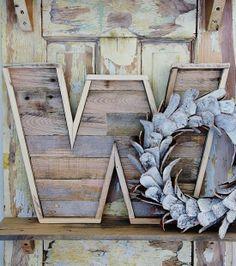 Tutorial para hacer una letra con madera de palets.