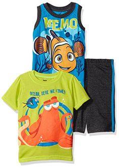 Disney Boys 3 Piece Finding Dory Short Set