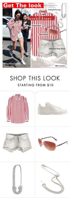 """""""Get The Look : #shirtovershorts - Kendall Jenner"""" by watereverysunday ❤ liked on Polyvore featuring Balenciaga, Sans Souci, Red Camel and Maison Margiela"""