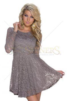 Vibrating Offer Brown Dress