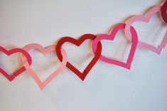 Cats On The Homestead: Paper Heart Garland