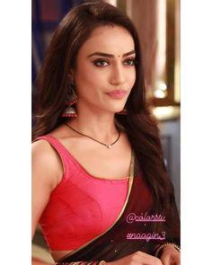 Cute Celebrities, Celebs, Indian Outfits, Indian Clothes, Qubool Hai, Sari Design, Erica Fernandes, Indian Tv Actress, Beautiful Bollywood Actress