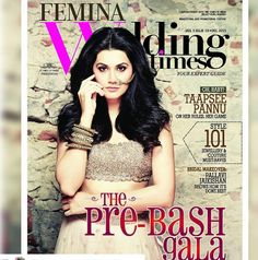 #DivaAlert: The gorgeous @taapsee was spotted adorning jewellery for the upcoming December issue of @femina_wedding_times. This stunning look is styled by @anushreereddyofficial