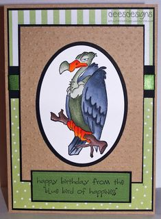 Buzzard Set - Art Impressions Great for over-the-hill birthday cards. Art Birthday, Funny Birthday Cards, Handmade Birthday Cards, Greeting Cards Handmade, Happy Birthday, Masculine Birthday Cards, Masculine Cards, Art Impressions Stamps, Card Sentiments