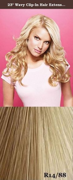 """23"""" Wavy Clip-In Hair Extensions by Jessica Simpson hairdo - R14-88H. This 23"""" Wavy Clip-In Hair Extension kit from hairdo™ Jessica Simpson and Ken Paves allows you to add stunning long wavy length to short and mid-length hair. If you already have long hair, you can use this kit to add volume and texture to your existing hair. This HairDo Extension kit is made from 100% Kanekalon Vibralite modacrylic fiber, the finest quality synthetic fiber available. Affordable, lightweight and easy to..."""