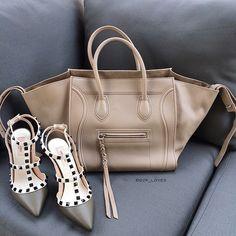 colour palette #celine #taupe #phantom #valentino #khaki #rockstuds #heels #thisweather