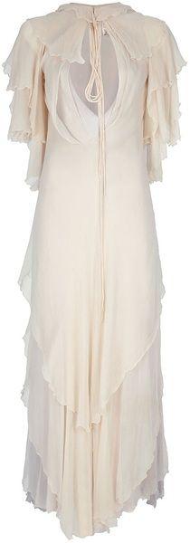 Vintage Silk Maxi Dress