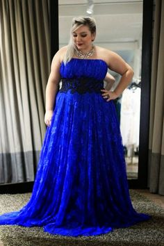 Long Plus-Size V-Neck Prom Dress with 3/4 Sleeves | More Prom ideas