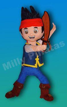 Piñata Jake y los piratas de Nuncajamas, piñata, fiesta, Milly Piñatas exclusivas