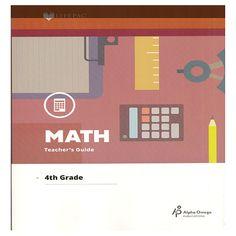 Alpha Omega Lifepac Math Set includes Teacher edition & 10 workbooks