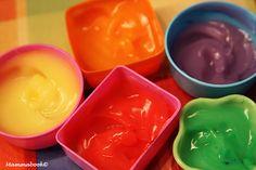 Mammabook: Attività artistiche per bambini: colori a dita - Finger colours without soap or glycerol