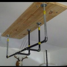 diy pull up bar 2x4 s and galvanized pipe diy gym pinterest