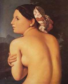 Half figure of a Bather 1807