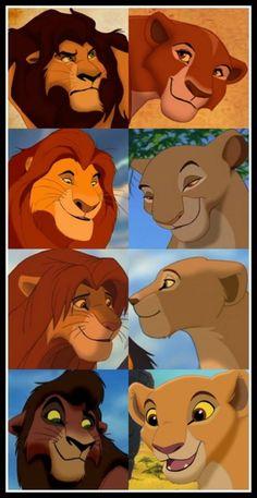 Ahadi, Uru - Mufasa, Sarabi - Simba, Nala - Kovu, Kiara ...  My childhood