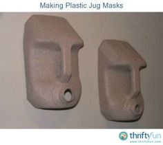 This guide is about making plastic jug masks. Frugal fun masks can be made by with recycled plastic jugs. I think they require more breathe holes. This guide is about making plastic jug masks. Frugal fun masks can be made by with recycled plastic jugs. Plastic Jugs, Plastic Bottle Crafts, Reuse Plastic Bottles, Plastic Bottle Flowers, Tiki Party, Luau Party, Plastik Recycling, Recycled Crafts, Diy Crafts