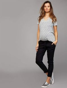 e2e623d32a99c A Pea In The Pod Under Belly Linen Jogger Maternity Pants. maternity pants  under belly