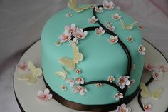 Cherry Blossom Cake @Merline Thomas you should make a cake like this!
