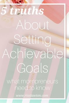 A lot of goal setting articles are put out by really successful entrepreneurs. But they don't always apply to mompreneurs. This article breaks goals down for mama biz owners. It also has a SMART goals worksheet printable