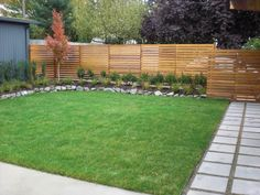 Devonshire Landscapes - Seattle, WA, NOTE the horizontal fencing, pavers, wall